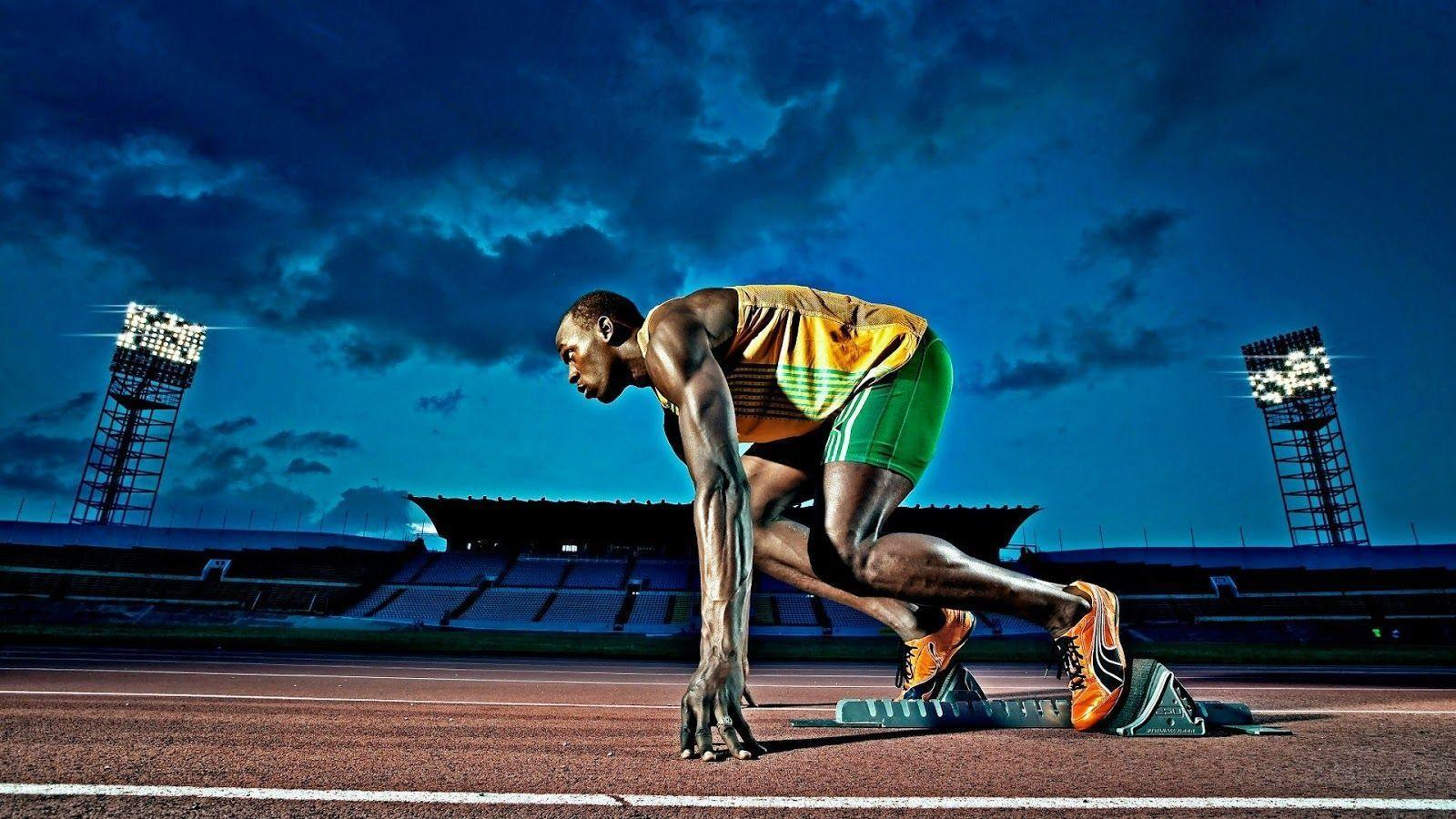 sports wallpapers hd sport background bolt running usain athletics athlete sprinter run awesome motivational race atletismo amazing track runner que