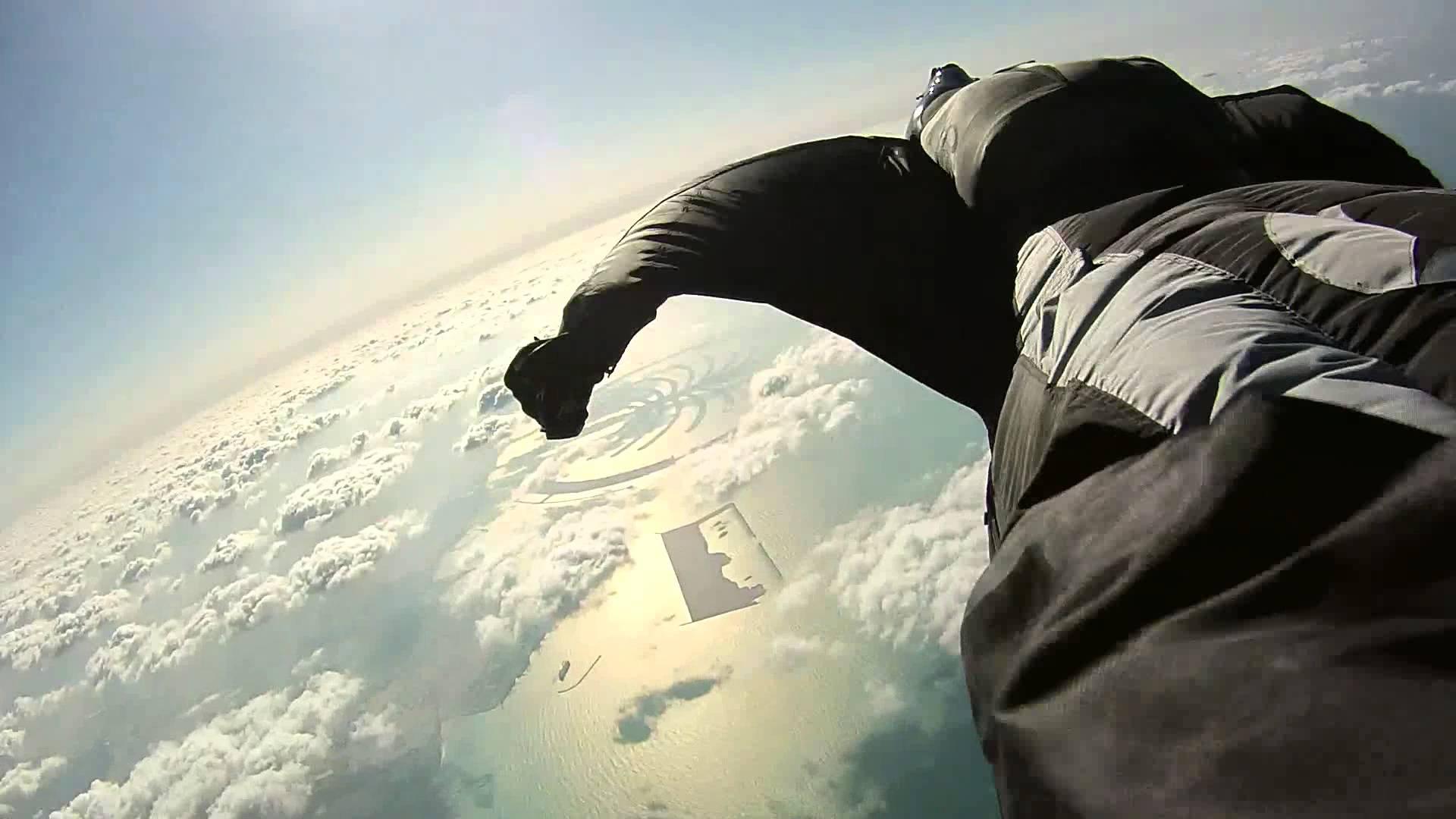 Base jumping wingsuit wallpaper