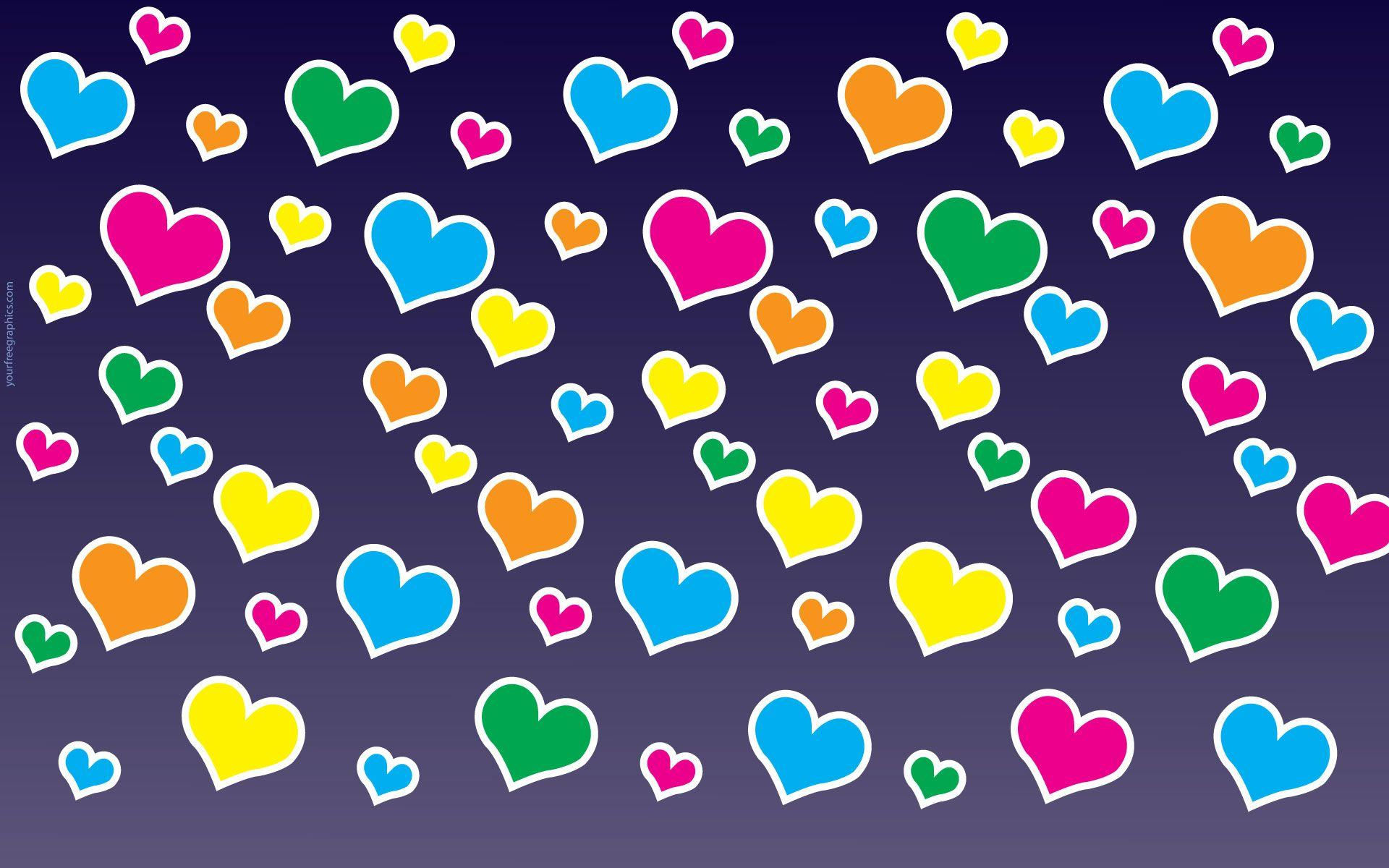 colorful hearts backgrounds wallpaper cave
