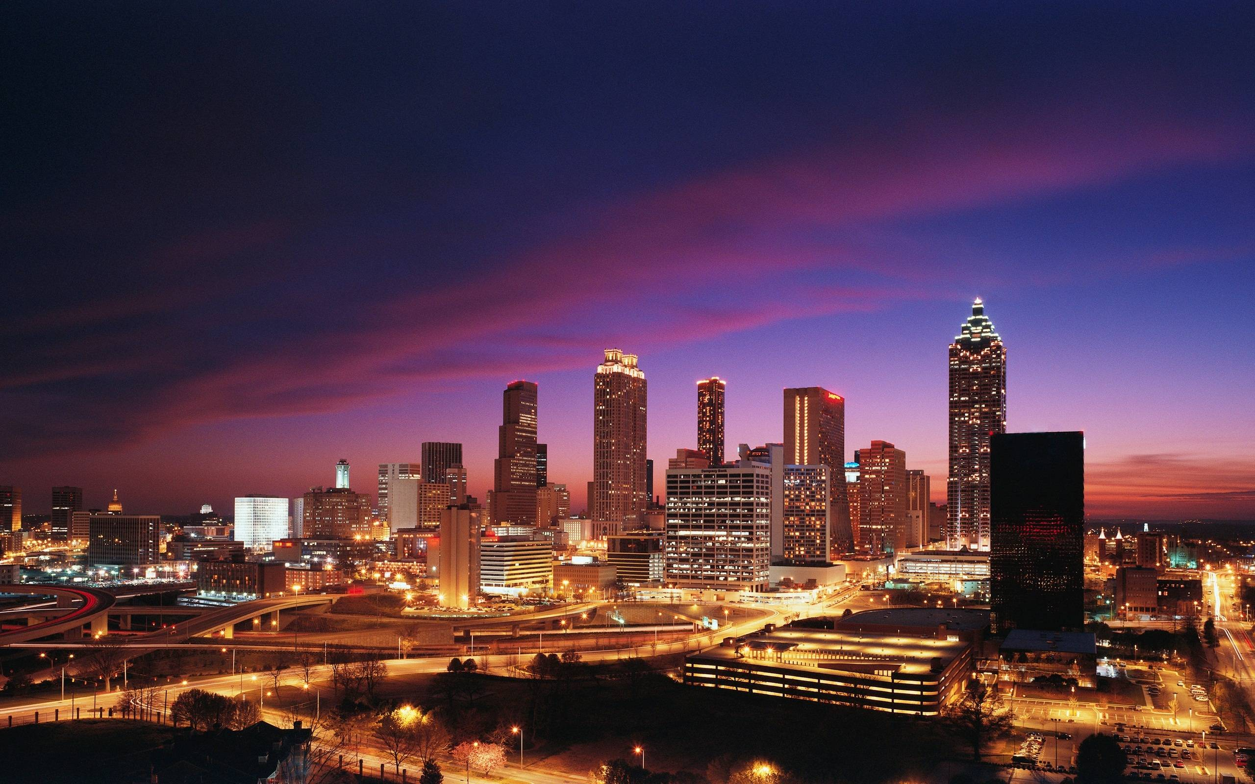 Atlanta skyline wallpapers wallpaper cave for Painting places in atlanta