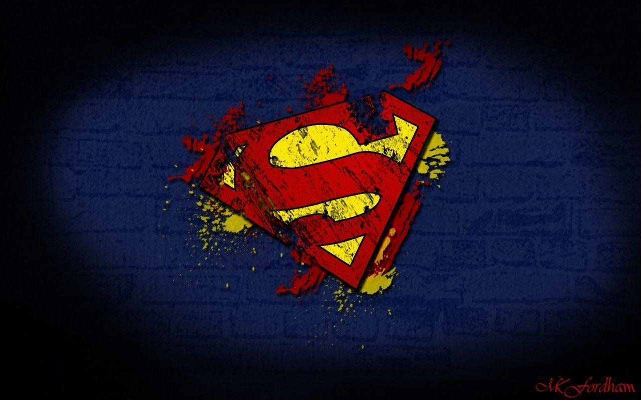 wallpapers of superman logo wallpaper cave