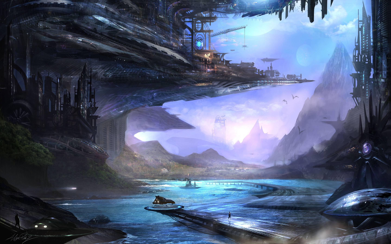 Fantasy city wallpapers wallpaper cave - Fantasy desktop pictures ...