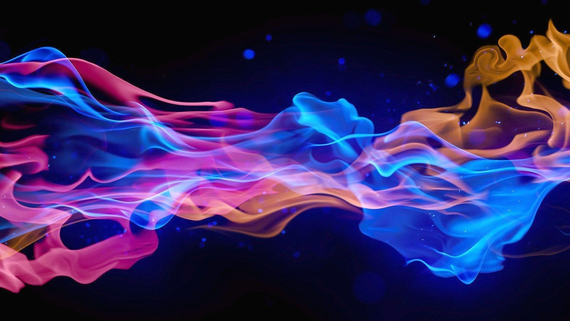 Smoke Background Hd >> Purple Flames Backgrounds - Wallpaper Cave