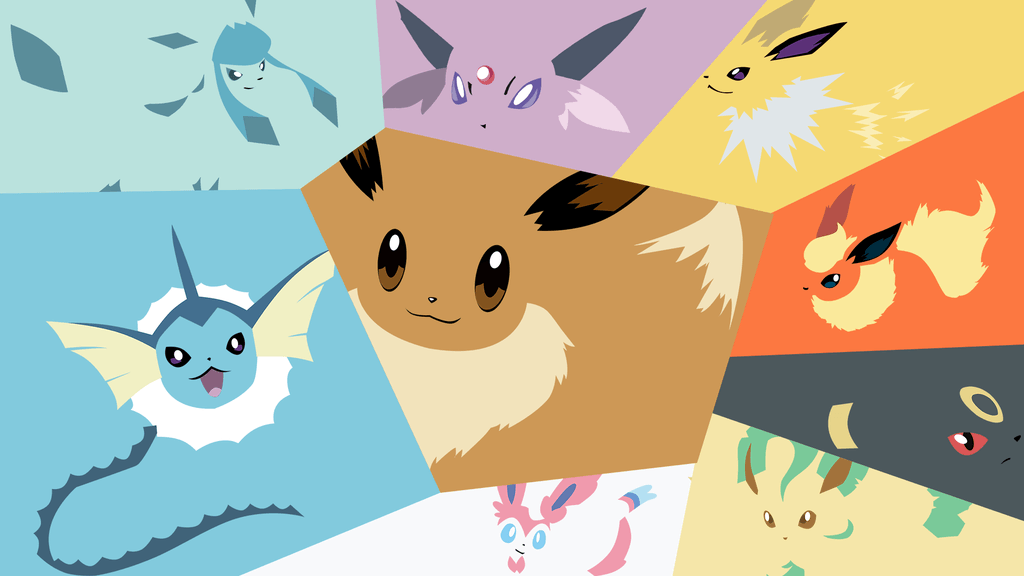 DeviantArt: More Like Minimalistic Eevee evolution wallpaper by ...
