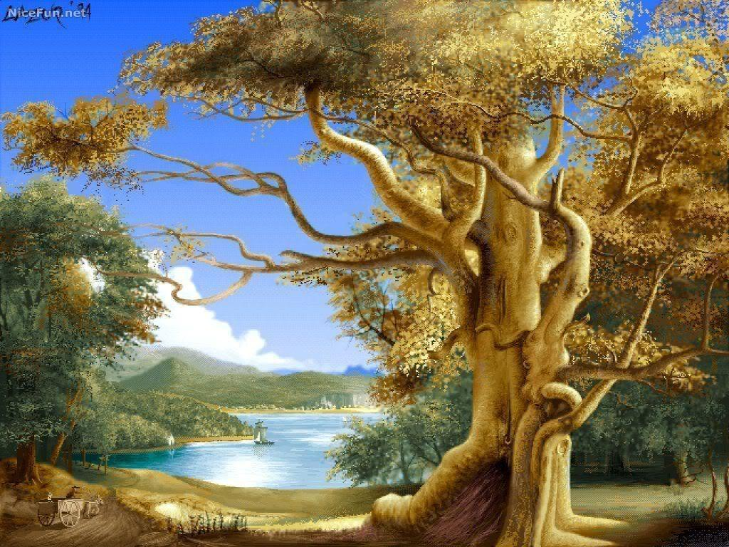 Beautiful Paintings Nature Backgrounds Wallpapers HD Wallpapers &