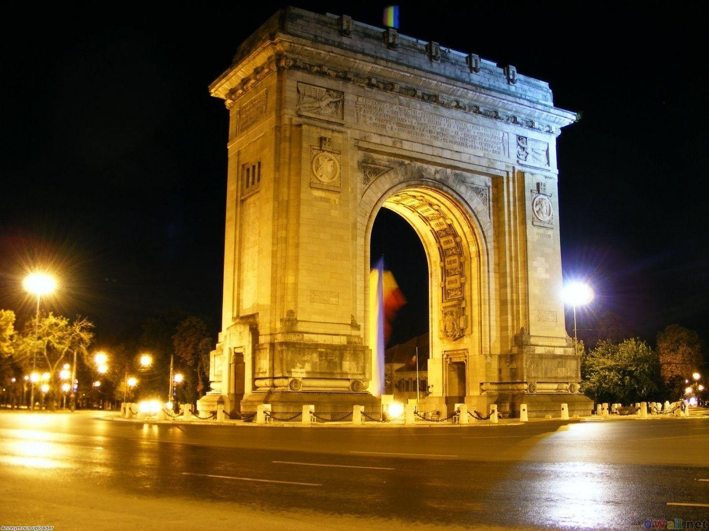 arc de triomphe bucharest romania wallpapers