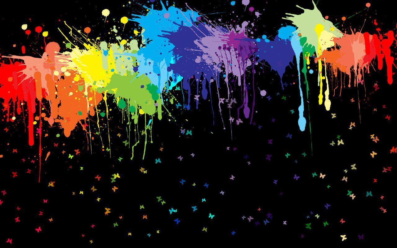 Paint Splatter Wallpaper › Findorget.com