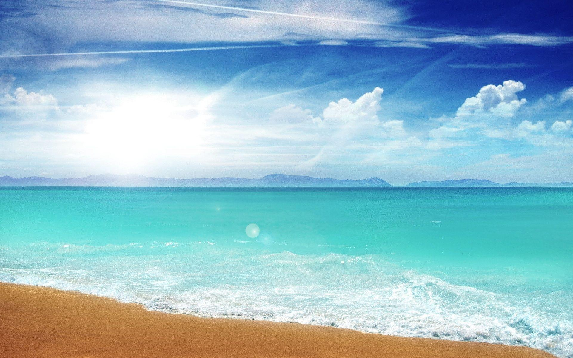 Beach Desktop Wallpaper Widescreen: Summer Beach Backgrounds