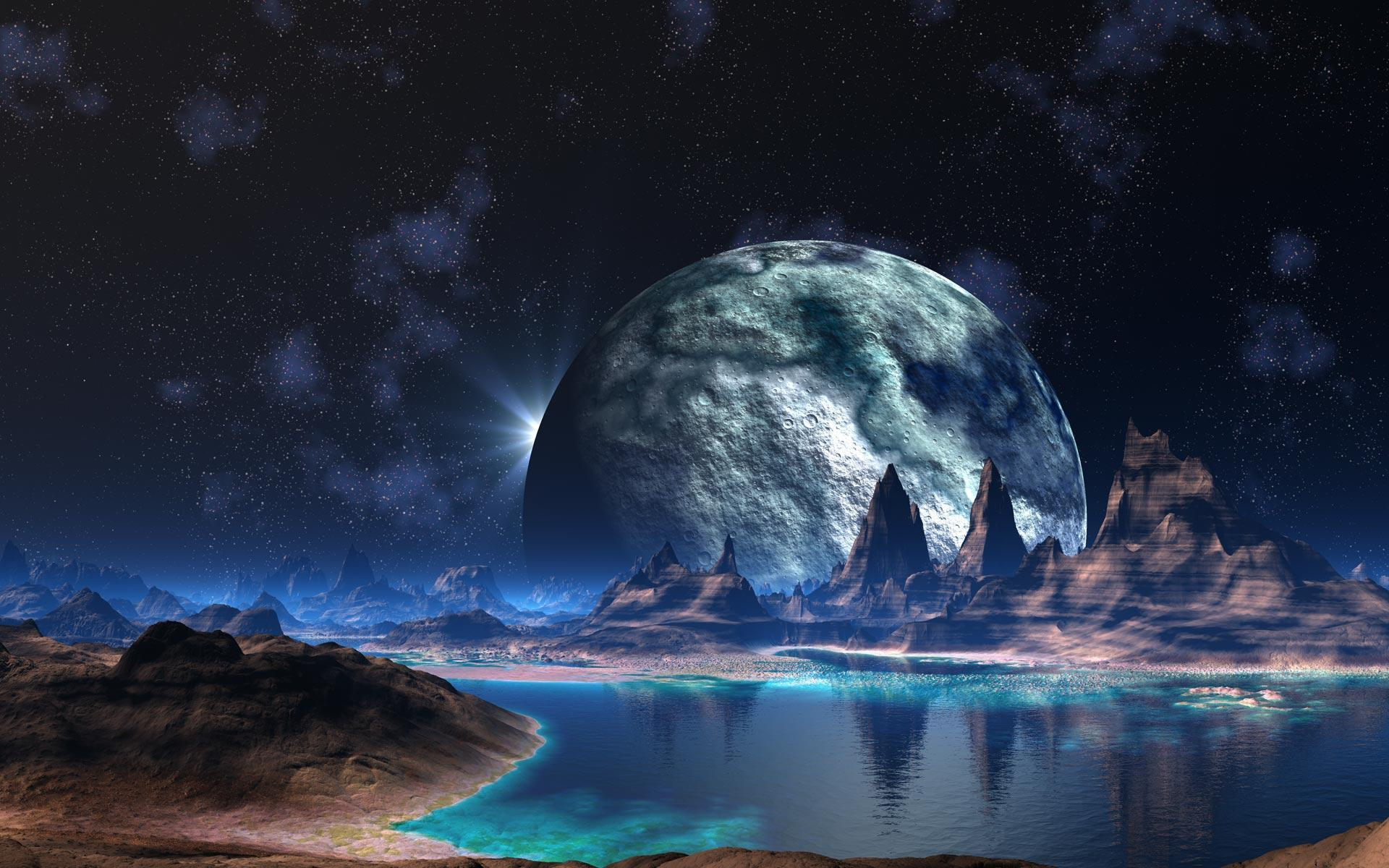 sci fi planets space desktop wallpaper background screensaver