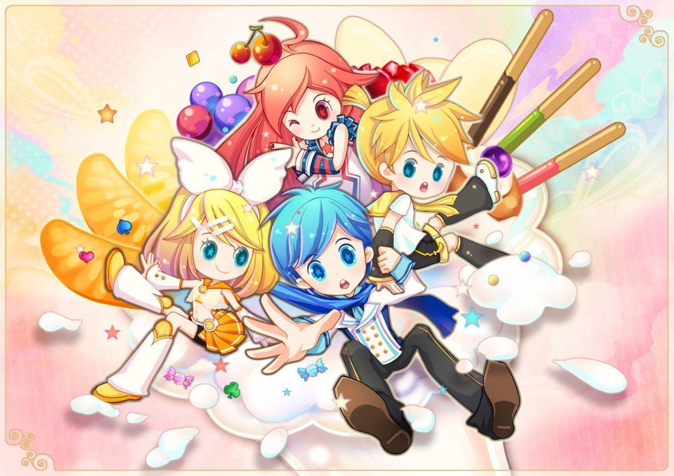 Vocaloid Chibi Group Wallpaper Anime Chibi Wallpapers...