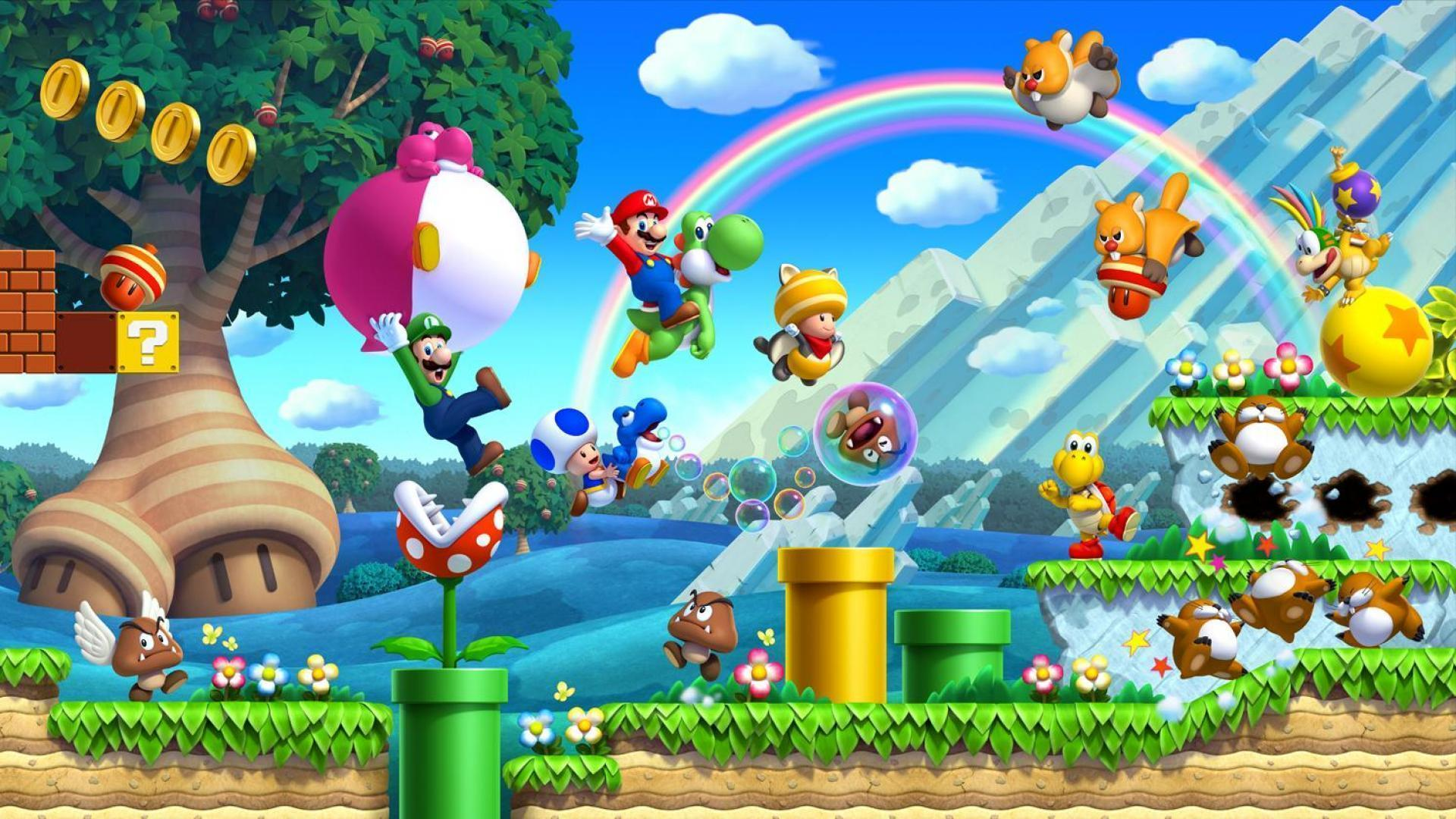 Super Mario Desktop Wallpaper (Wii U)