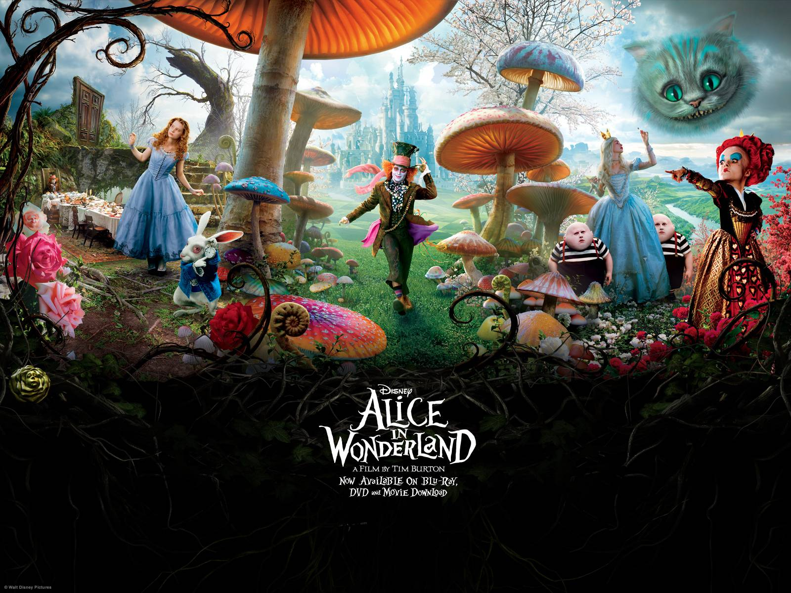 alice in wonderland wallpapers