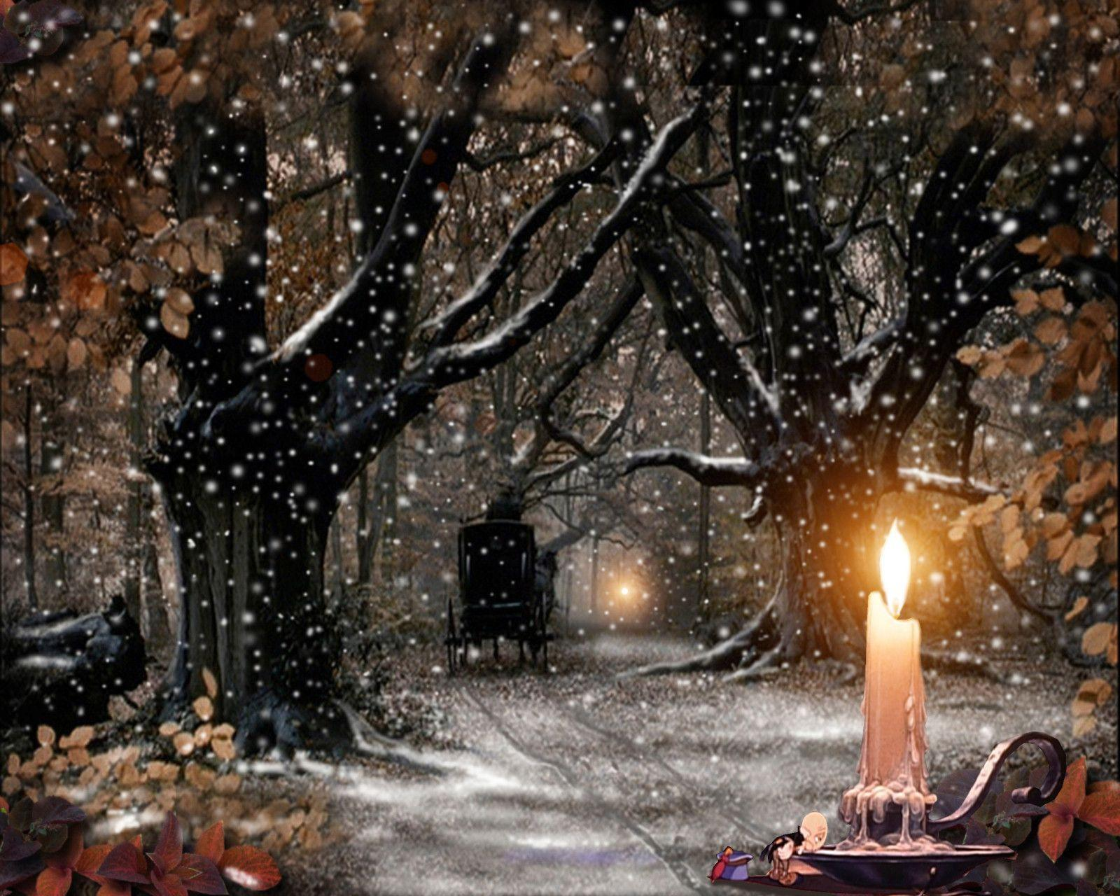 Snow Christmas Scene En Img Com Wallpapers