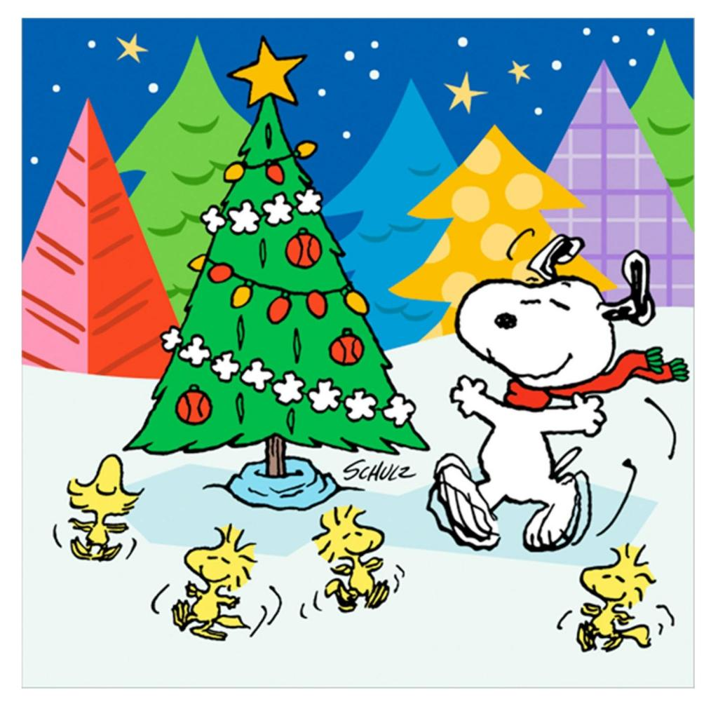 Snoopy Christmas Backgrounds - - 104.9KB