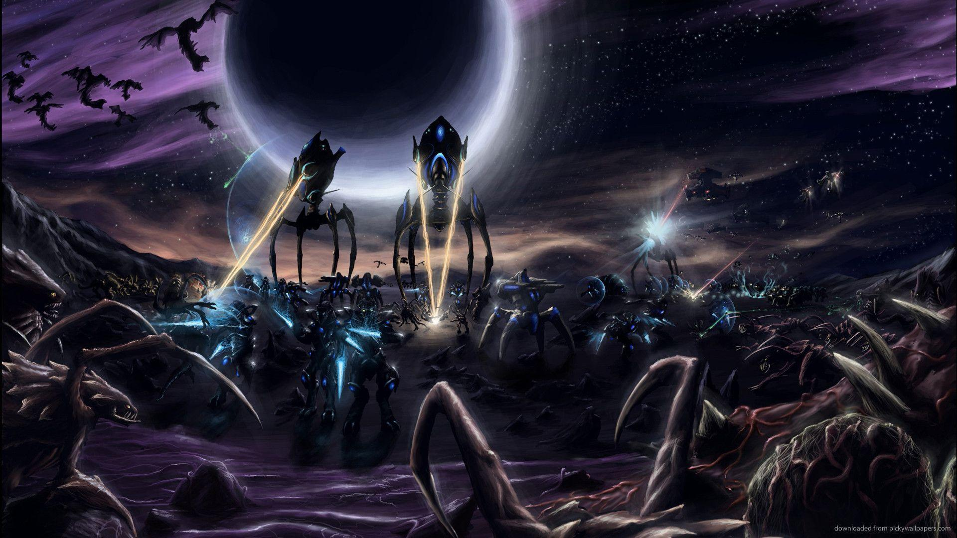 Protoss Against Zerg Wallpapers For iPad 2