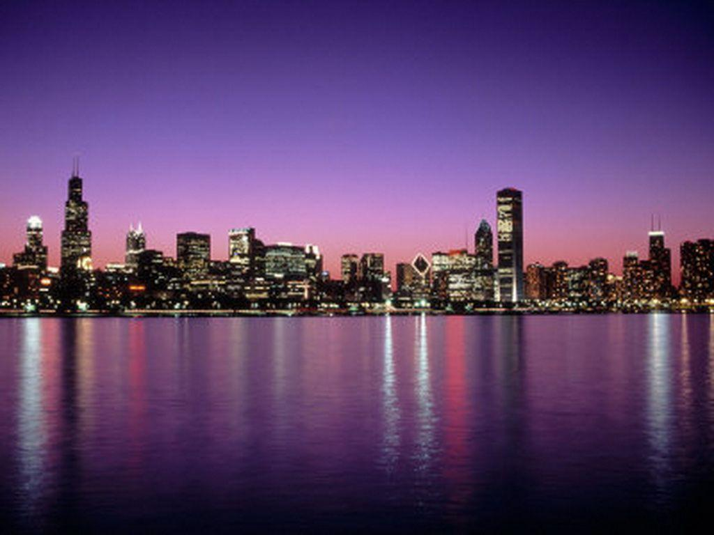 Free chicago wallpapers wallpaper cave - Skyline night wallpaper ...