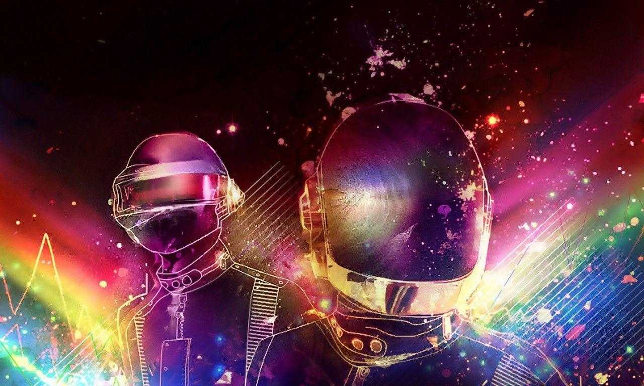 Wallpapers Retro Space Daft Punk Style Electronic Music ...