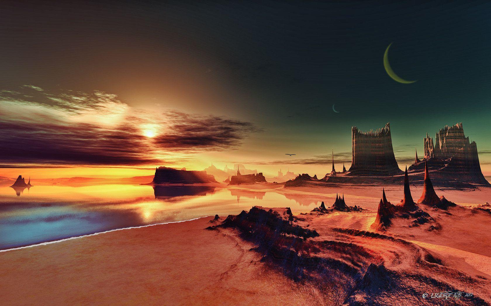 alien sunset wallpaper - photo #28