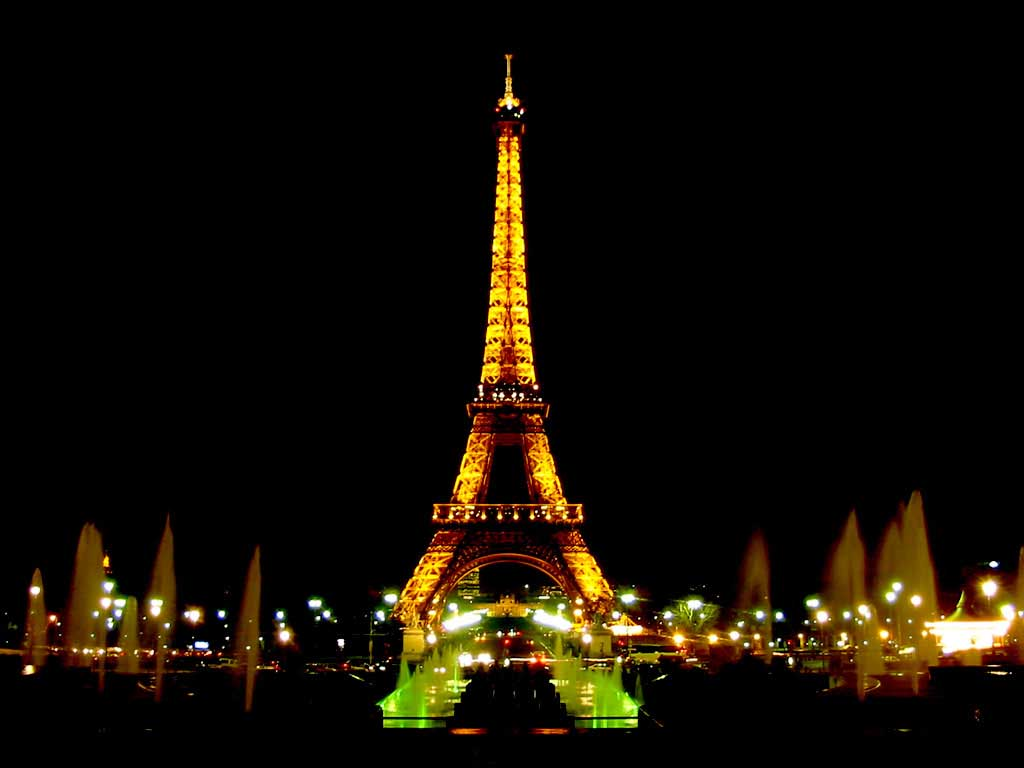 Eiffel tower at night wallpapers wallpaper cave - Foto wallpaper ...