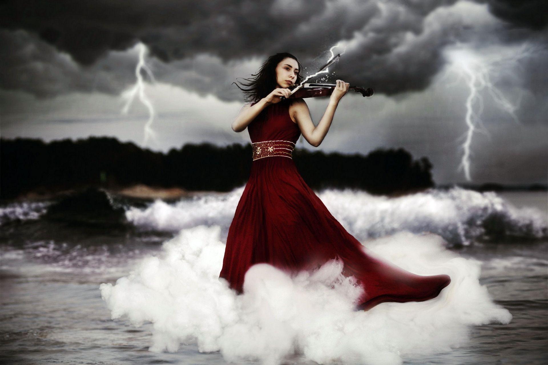 Women Playing Music Violin Wallpaper #6425 Wallpaper | Wallpaper ...