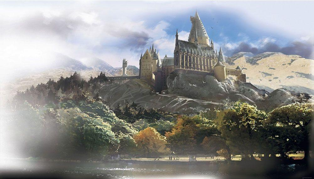 Harry Potter Hogwarts Castle Giant Wallpapers Accent Mural
