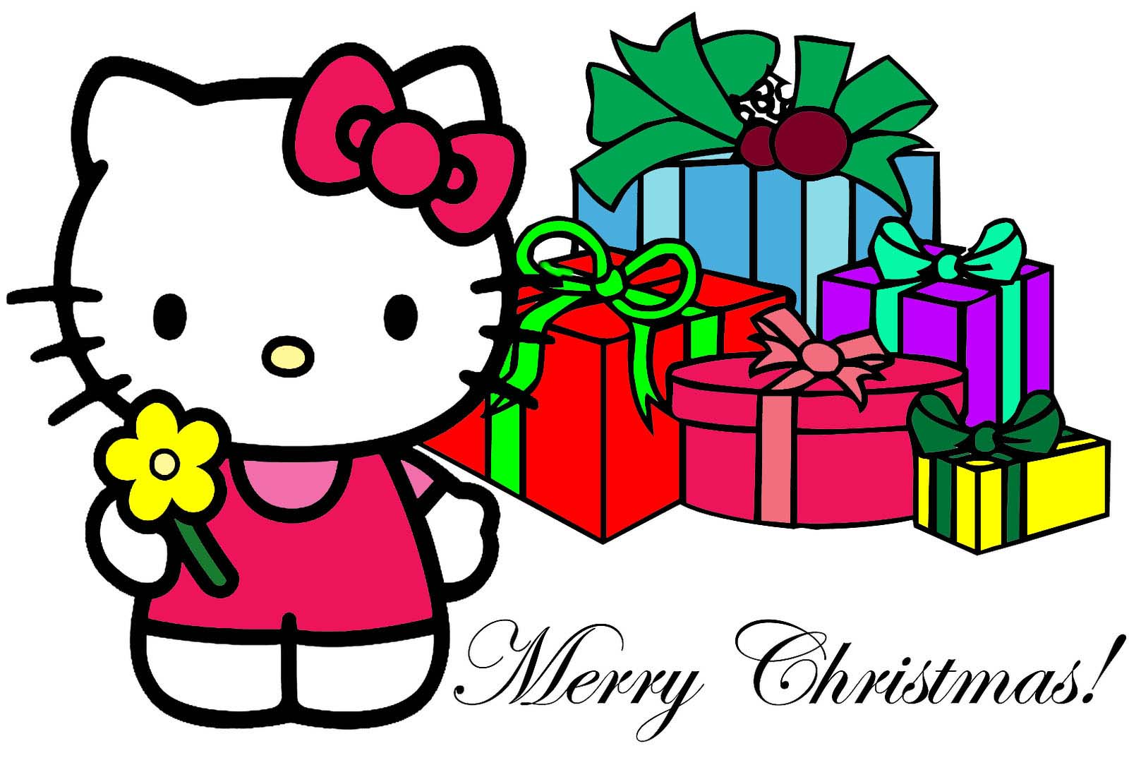 Christmas hello kitty picture