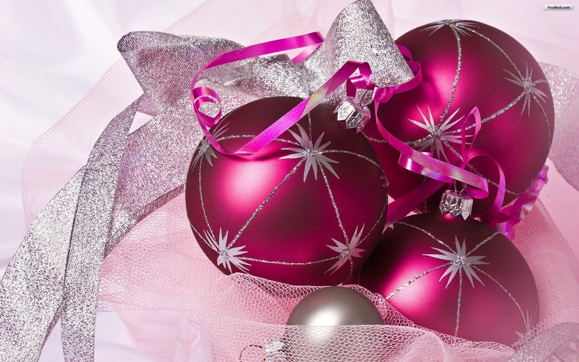 pink christmas wallpapers wallpaper cave