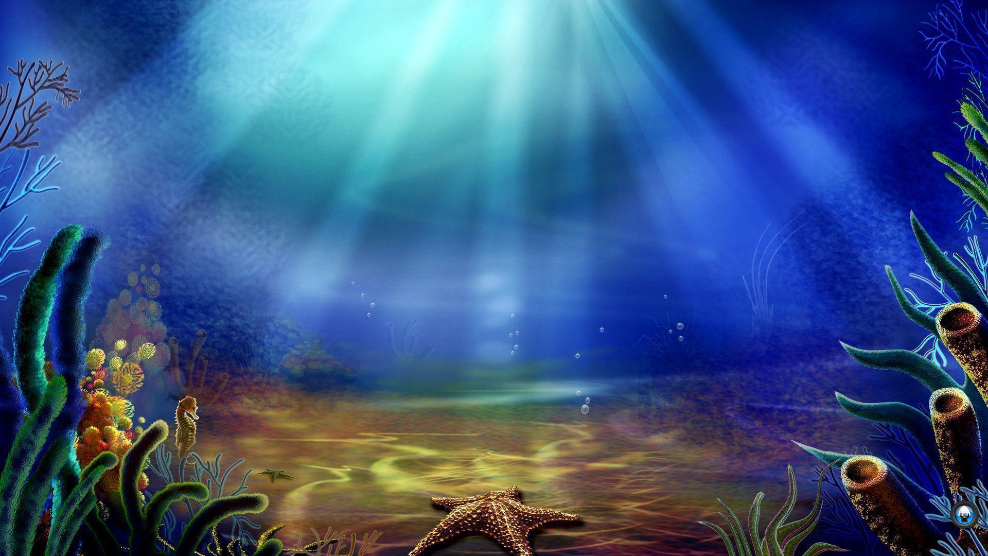 underwater cartoon wallpaper - photo #5