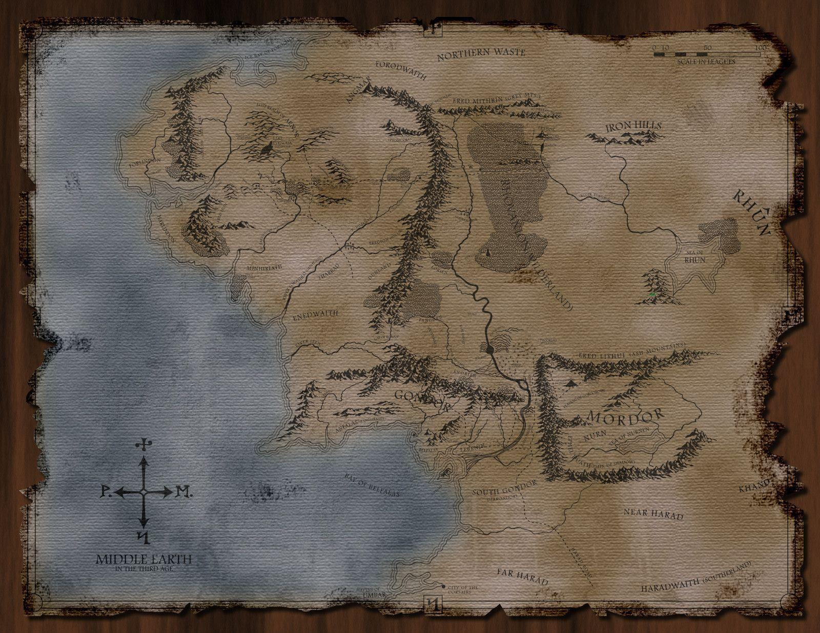 DeviantArt: More Like The Middle Earth Map by