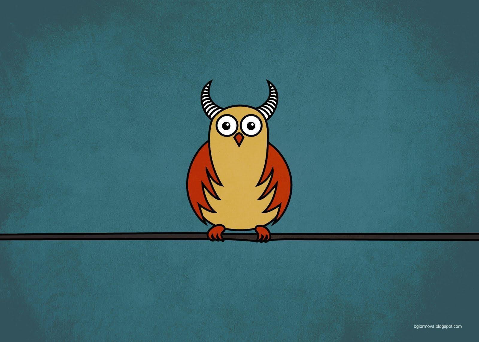 Funny Cartoon Image Funny Cartoon Horned Owl Wallpapers By