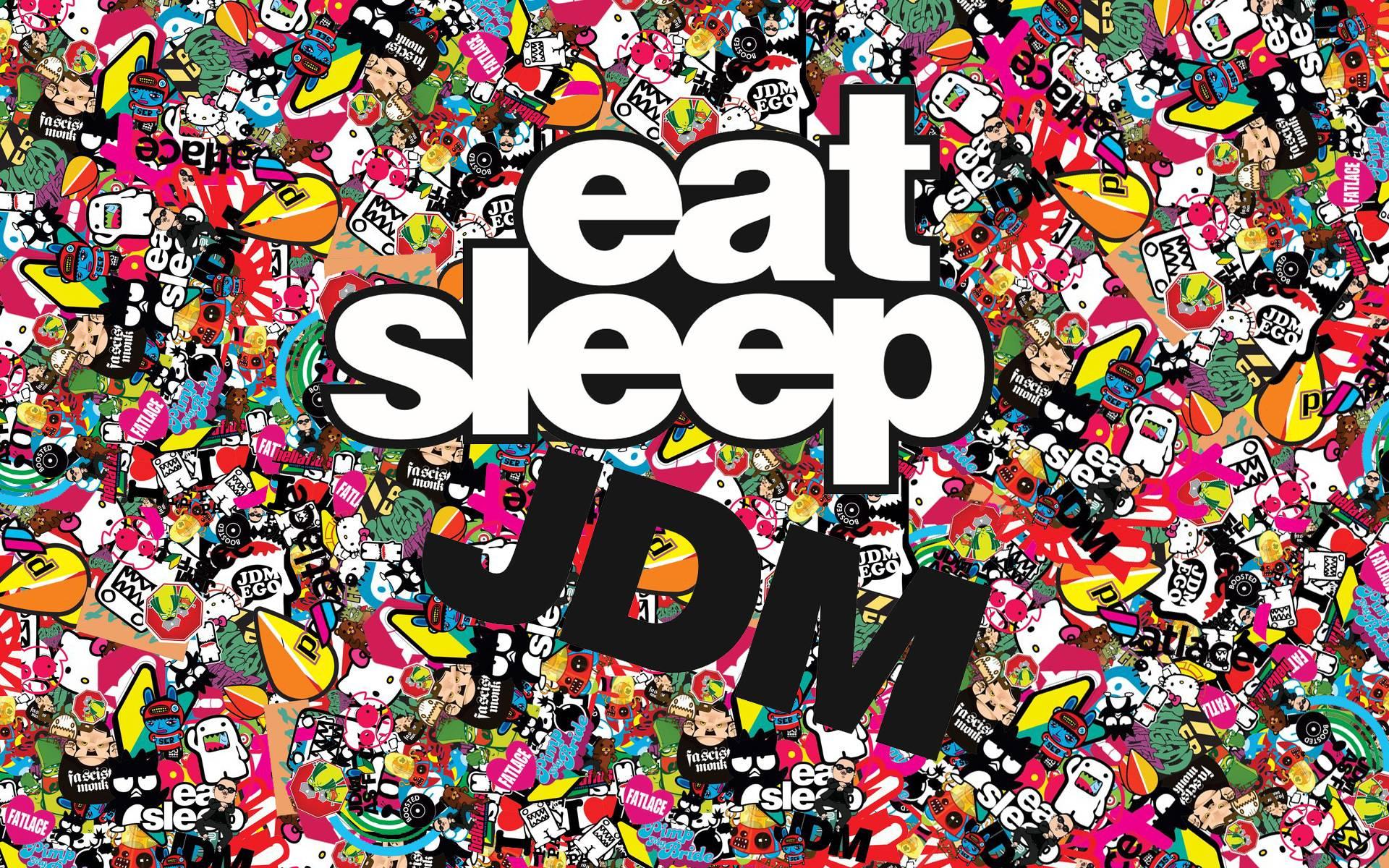 Wallpaper Jdm Eat Sleep Japan Japanese Domestic Market