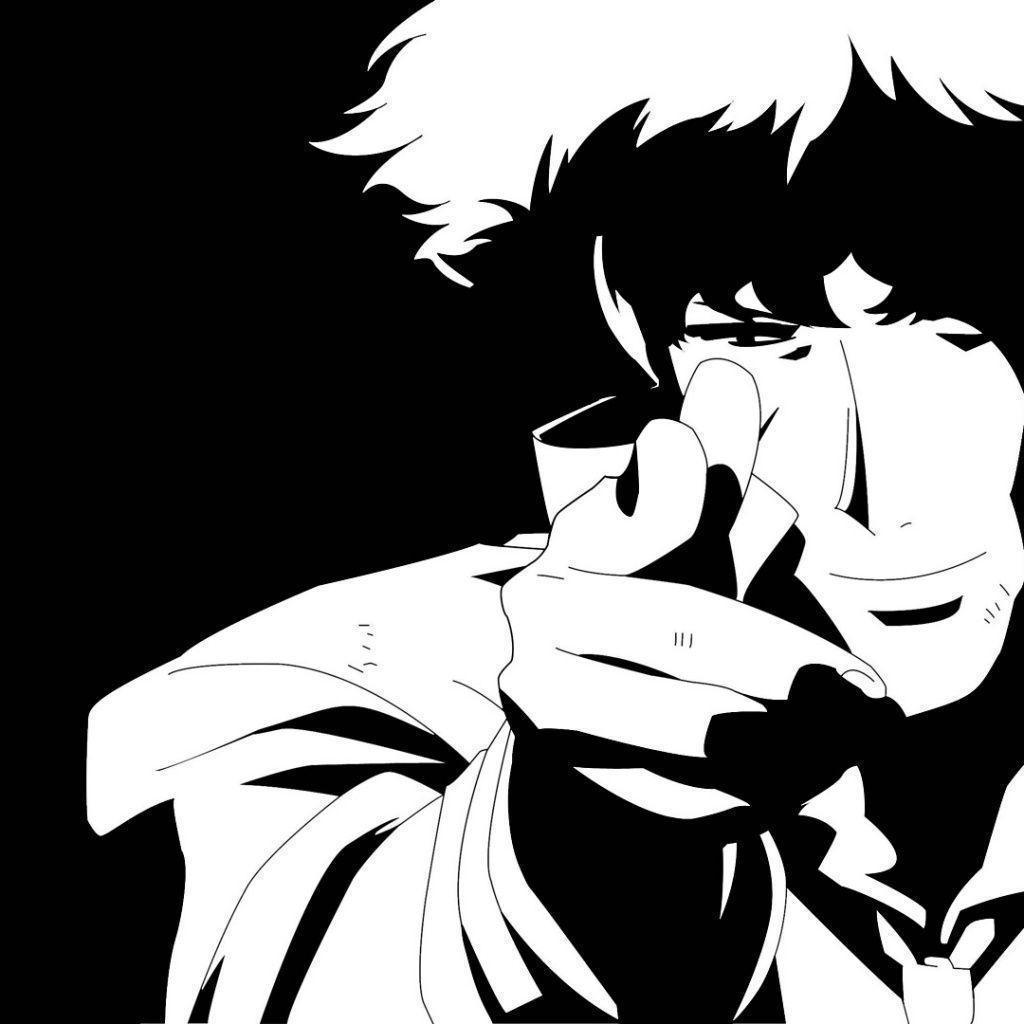 Spike Spiegel Black White iPad 1 & 2 Wallpapers