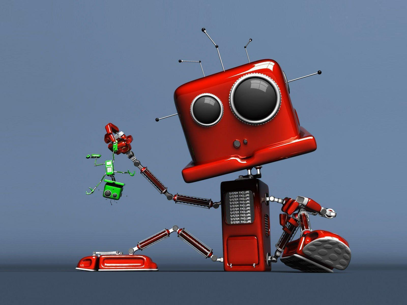 Cute Robot Wallpapers - Wallpaper Cave
