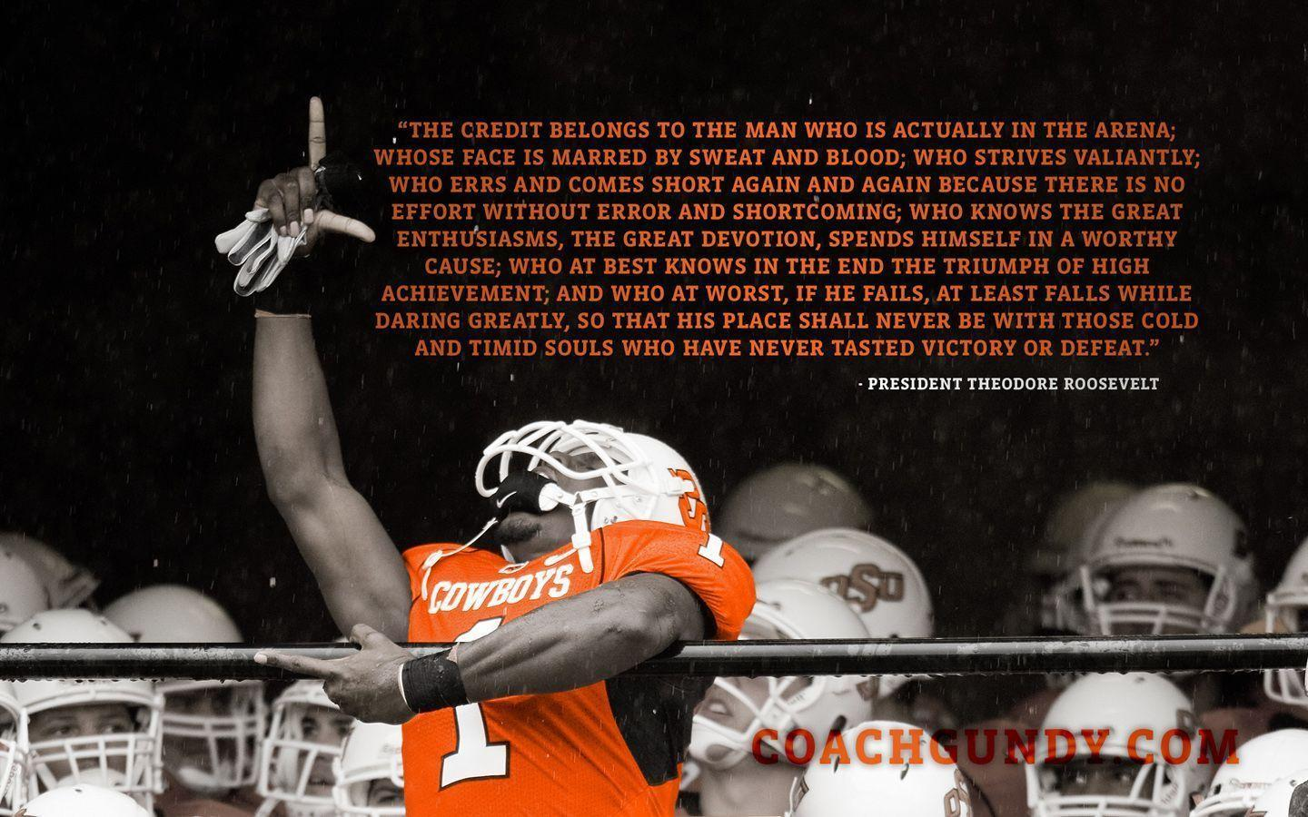 Sport Wallpapers With Quotes: Oklahoma State Football Wallpapers