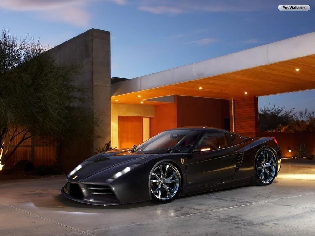 Matte Black Ferrari Iphone Wallpaper