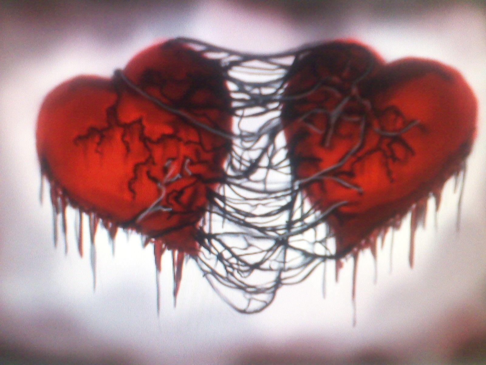 Картинка два сердца разбитых
