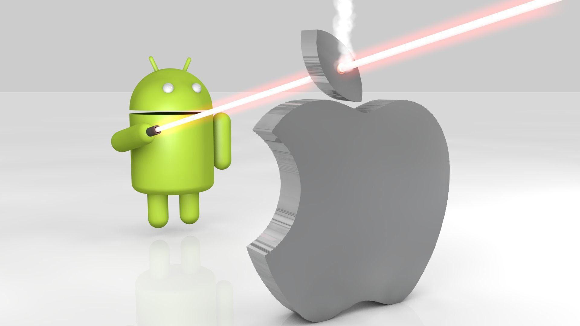 Android Apple Wallpaper: Apple Vs Android Wallpapers