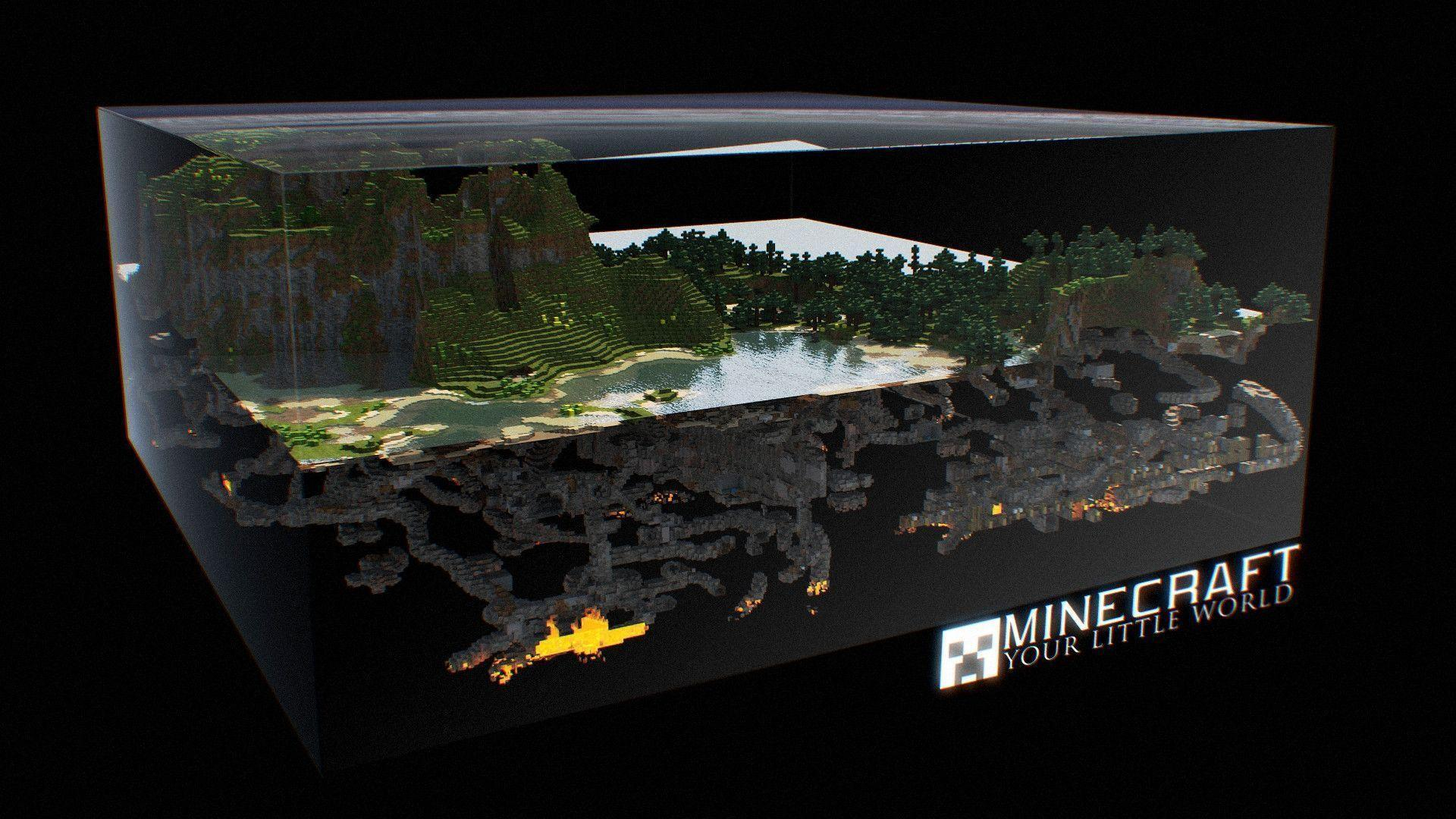 Epic minecraft backgrounds wallpaper cave for 3d wallpaper for your house