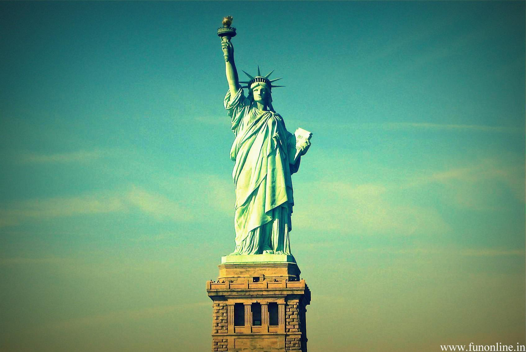 Pix For > Statue Of Liberty Wallpapers Sunset