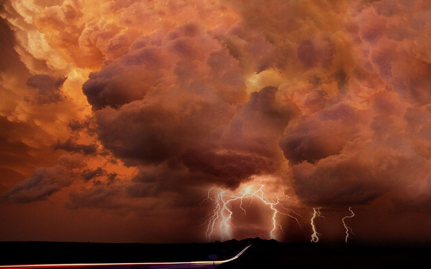 Download Storm Lightning Wallpaper 1680x1050 | Wallpoper #404077