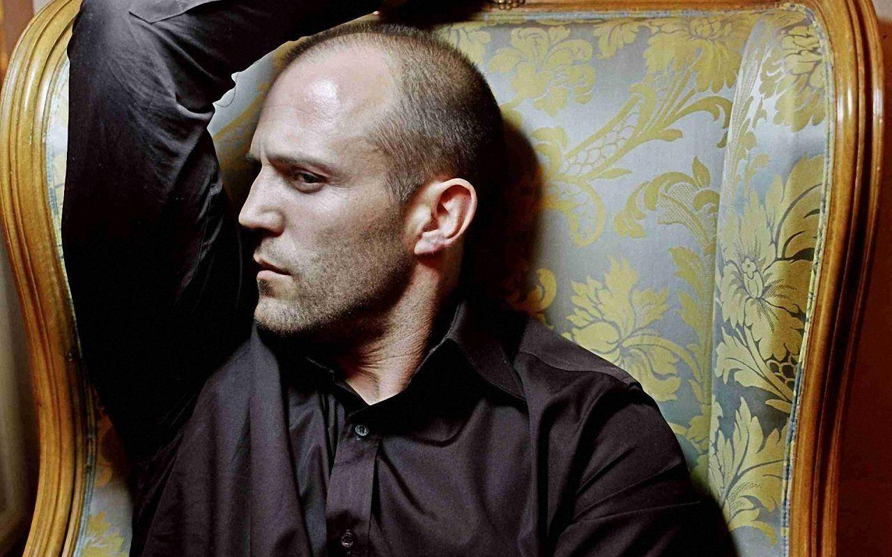 Pin 640x960 Wallpaper Jason Statham Bald Actor Beard Frowning Face ...