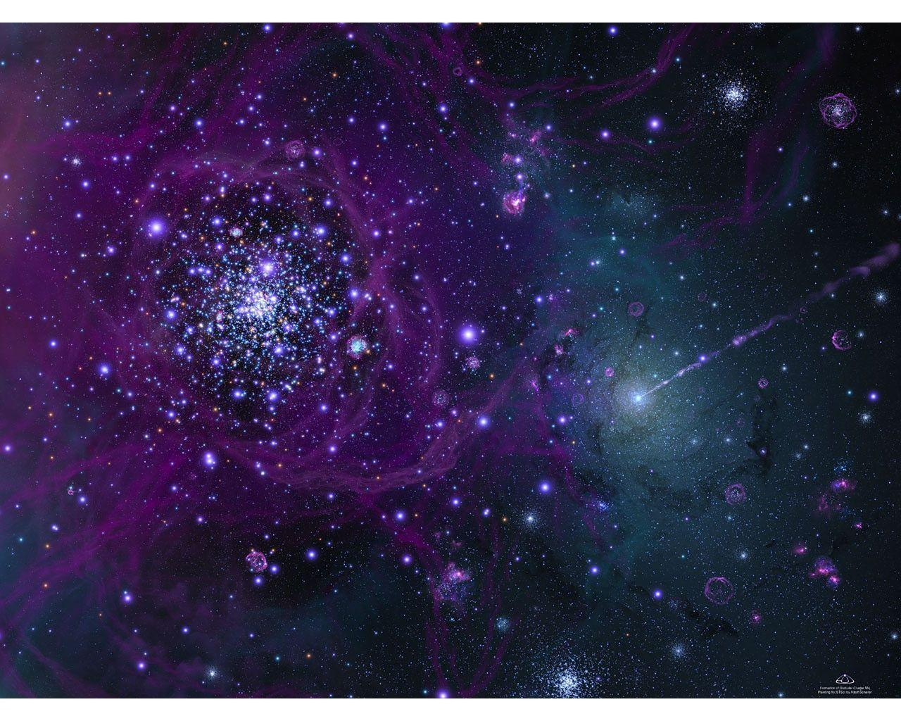 Blue And Purple Galaxy Wallpapers Image & Pictures
