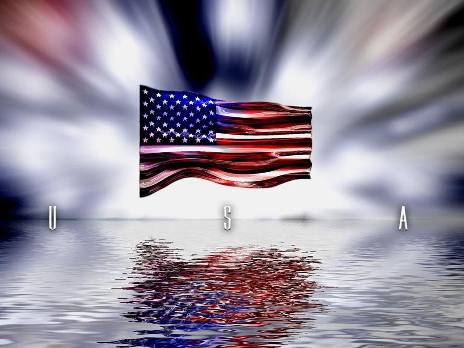 American Flag Desktop ...