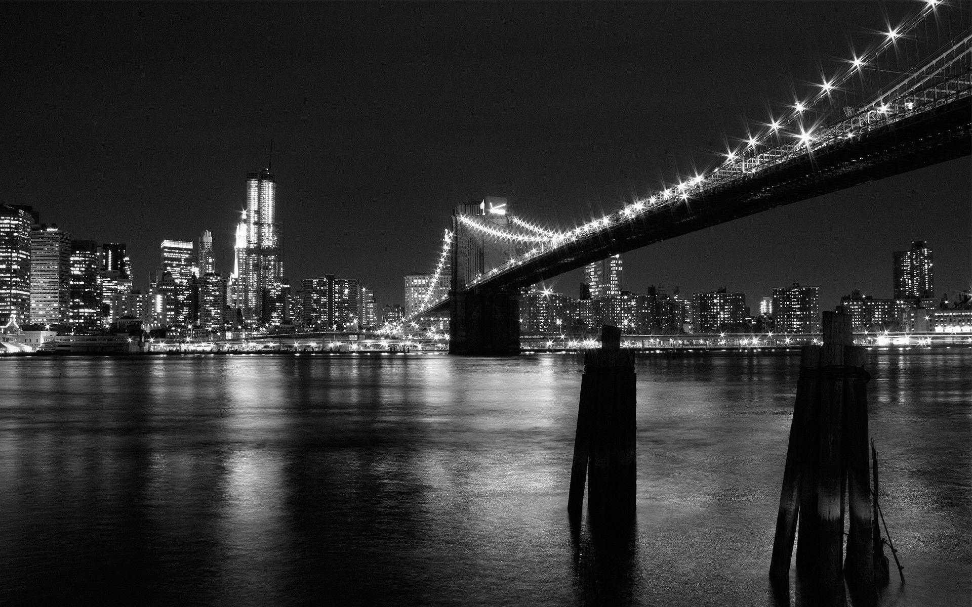 city lights black and white - photo #5