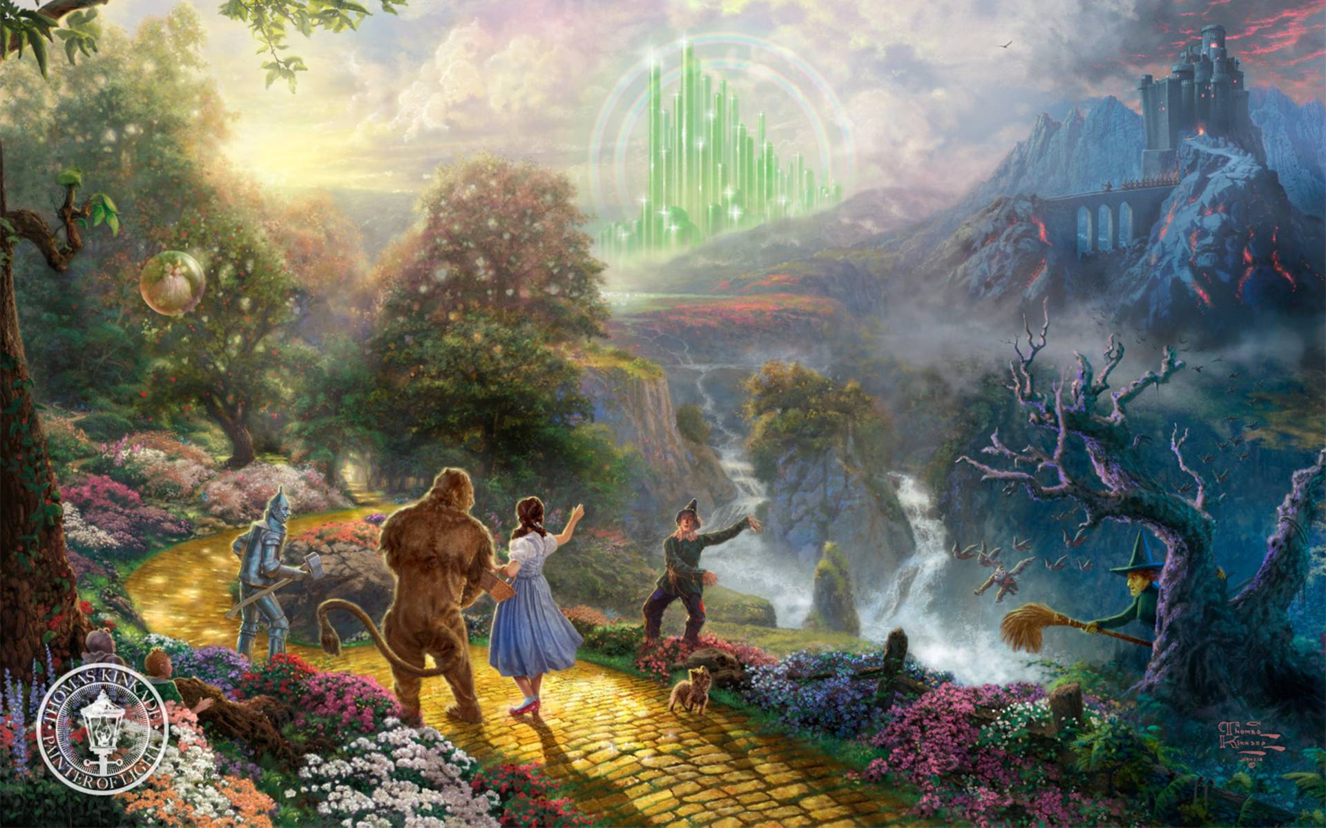 Wizard of oz wallpapers wallpaper cave for Emerald city wall mural