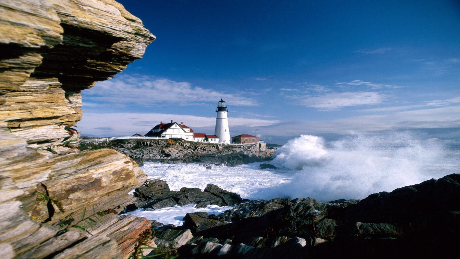 portland head lighthouse maine free desktop background free