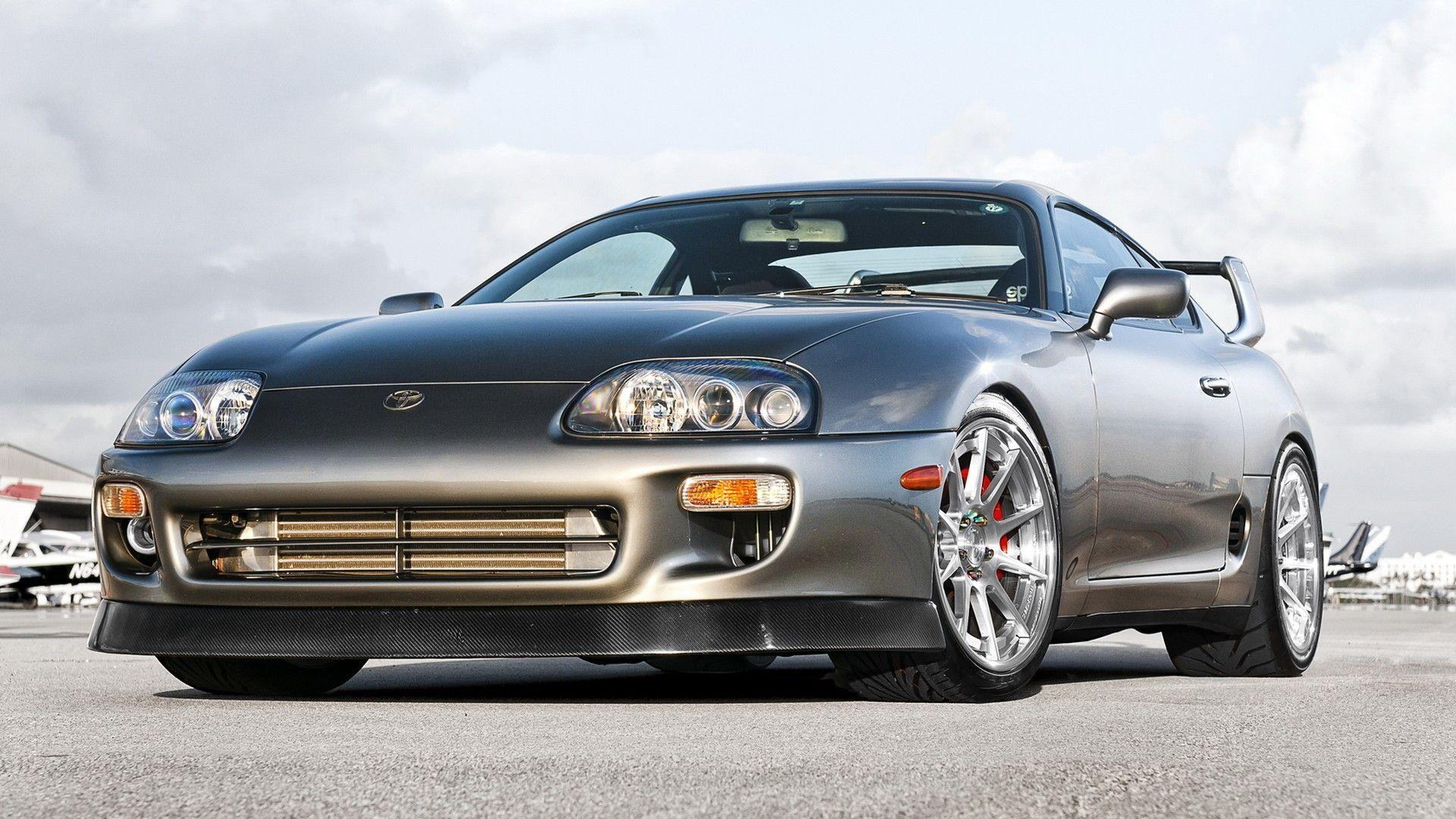 Silver Toyota Supra Front Angle 30194 High Resolution