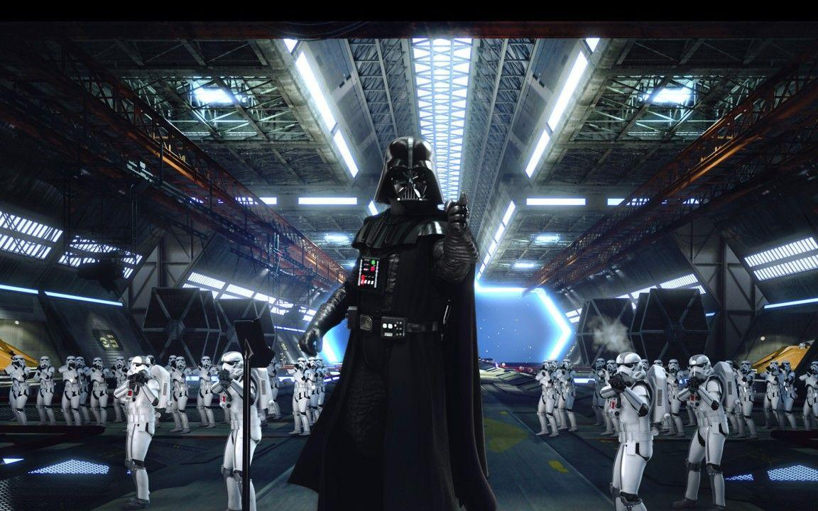 Star Wars Darth Vader And Clone Troopers Widescreen Wallpaper