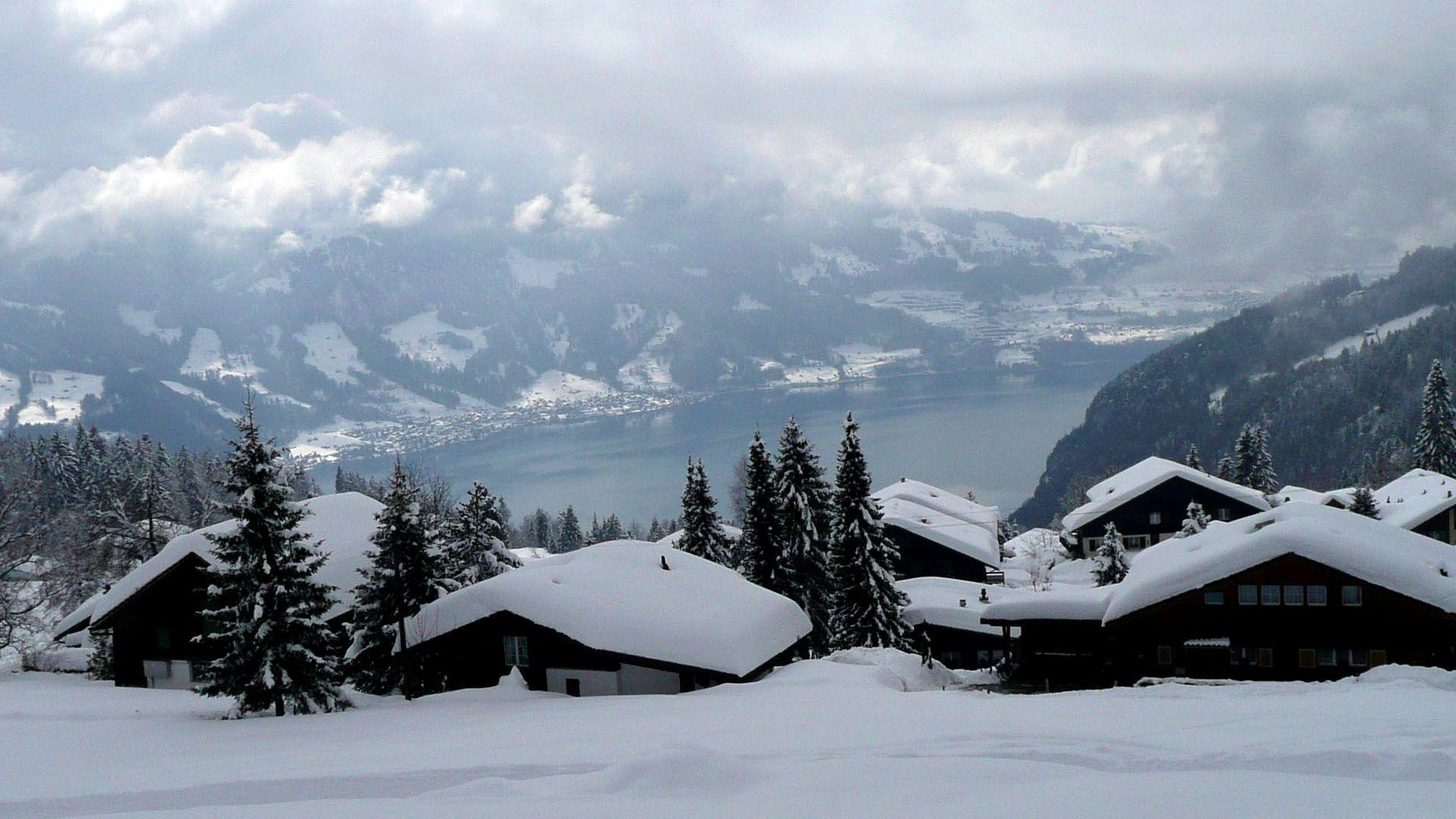 Switzerland Winter wallpaper - 287344