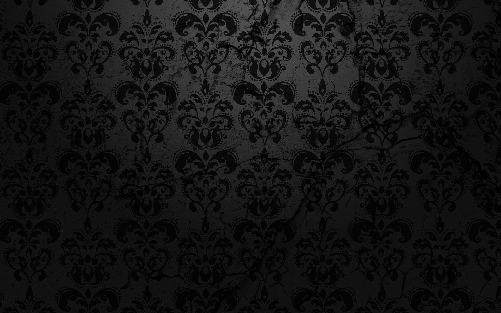 Pretty Black Patterns Widescreen Wallpaper HD